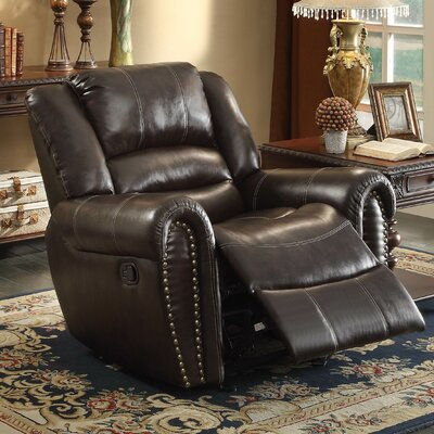 Caffey Power Recliner Upholstery: Dark Brown
