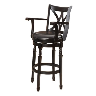 Kappler 30.5 Swivel Bar Stool Finish: Black