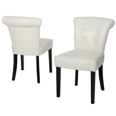 Collinson Parsons Chair Upholstery: Ivory Leather
