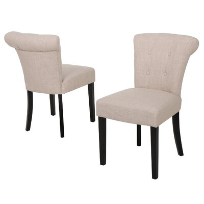 Collinson Side Chair in Beige Fabric