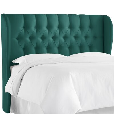 Cutshall Upholstered Wingback Headboard Size: King, Upholstery: Shantung Peacock