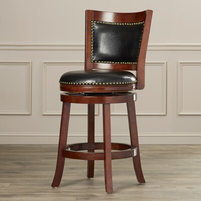 Carstensen 24 Swivel Bar Stool Finish: Cherry