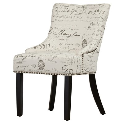 York Upholstered Dining Chair Upholstery Color: Eggshell, Leg Color: Espresso