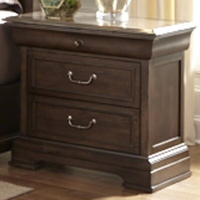 Greenacre 2 Drawer Nightstand