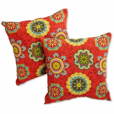 Duquette Outdoor Throw Pillow Color: Farmington Terrace Grenadine