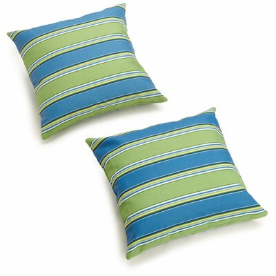 Dewald Outdoor Throw Pillow Color: Haliwell Caribbean