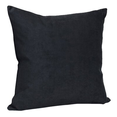 Hadenson Decorative Faux Suede Throw Pillow Color: Black