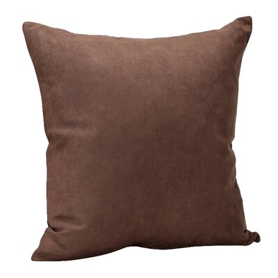 Hadenson Throw Pillow Color: Chocolate