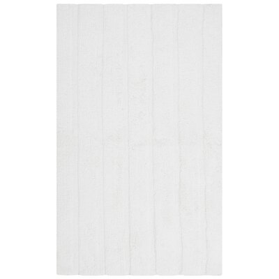Sawyer Bath Rug Rug Size: 2-3 X 3-9, Color: White
