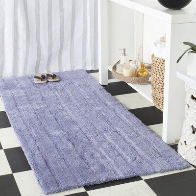 Sawyer Bath Rug Rug Size: 26 x 6, Color: Light Purple