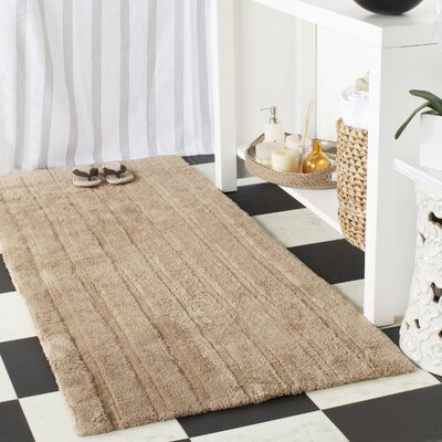 Sawyer Bath Rug Rug Size: 2-3 X 3-9, Color: Grey