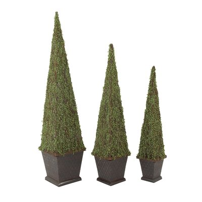 3 Piece Topiary in Planter Set