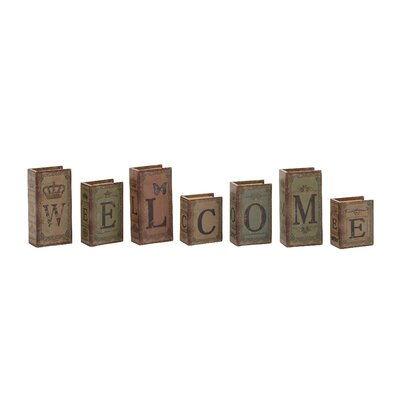 7 Piece Welcome Written Book Box Set