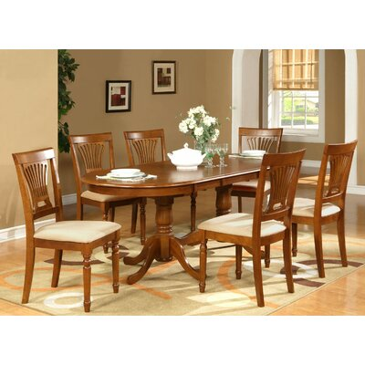 Germantown 7 Piece Dining Set Finish: Black / Cherry, Chair Upholstery: Wood