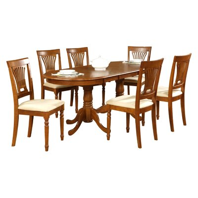 Germantown 7 Piece Dining Set Finish: Buttermilk / Cherry, Chair Upholstery: Wood