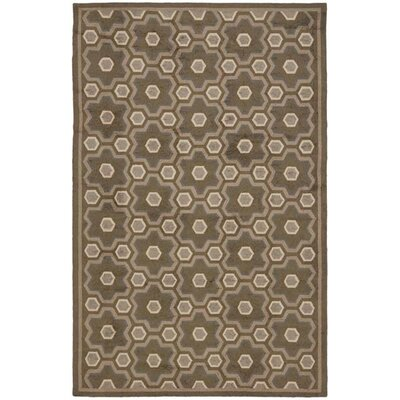 Puzzle Molasses Brown Area Rug Rug Size: 56 x 86