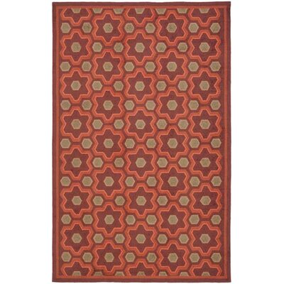 Puzzle Choc Cosmos Brown Area Rug Rug Size: 56 x 86