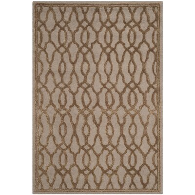Martha Stewart Hand-Tufted Brown / Bronze Area Rug Rug Size: Rectangle 4 x 6