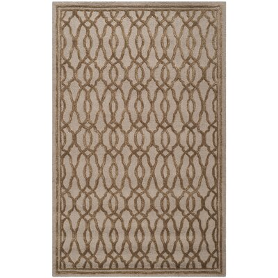 Martha Stewart Hand-Tufted Brown / Bronze Area Rug Rug Size: Rectangle 5 x 8