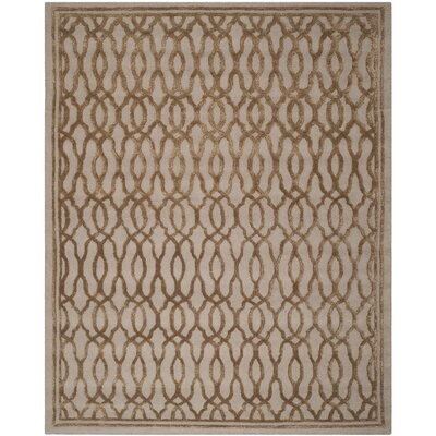 Martha Stewart Hand-Tufted Brown / Bronze Area Rug Rug Size: Rectangle 8 x 10