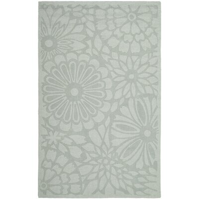 Full Bloom Hand-Loomed Driftwood Grey Area Rug Rug Size: Round 8