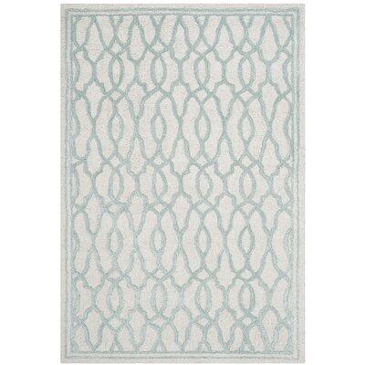 Martha Stewart Hand-Tufted Ivory / Blue Area Rug Rug Size: 4 x 6