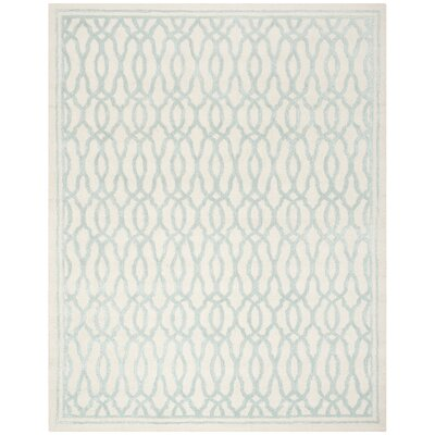 Martha Stewart Hand-Tufted Ivory / Blue Area Rug Rug Size: 8 x 10