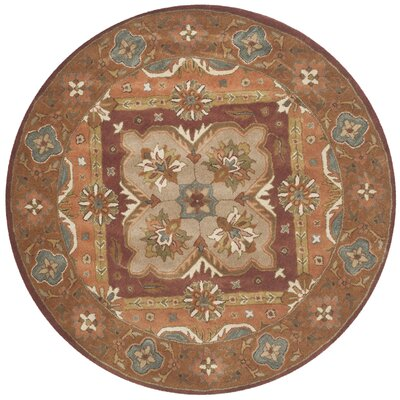 Whitaker Hand-Tufted Rust Area Rug Rug Size: Rectangle 6 x 9