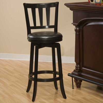 Malcolm 25.5 inch Swivel Bar Stool Frame Finish: Black