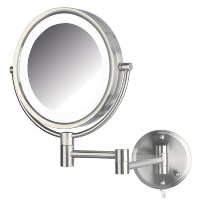 Whitehill Dual Sided Wall Mount Lighted Mirror Finish: Nickel