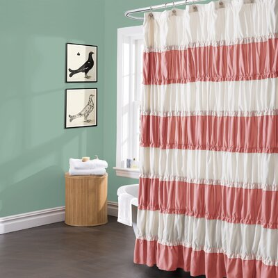 Cleanhill Shower Curtain Color: Coral