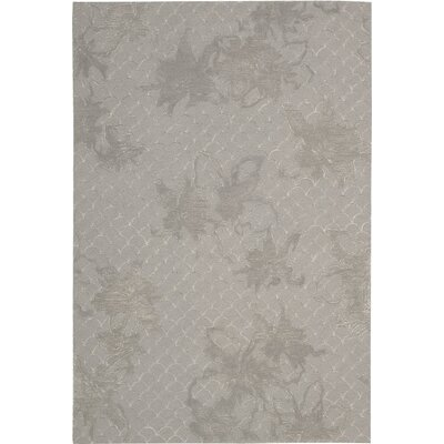 Stalbridge Hand-Tufted Silver Area Rug Rug Size: Rectangle 5 x 76