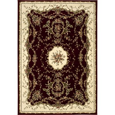 Sherley Burgundy Area Rug Rug Size: Rectangle 53 x 74