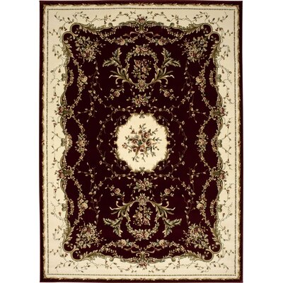 Sherley Burgundy Area Rug Rug Size: Rectangle 39 x 59