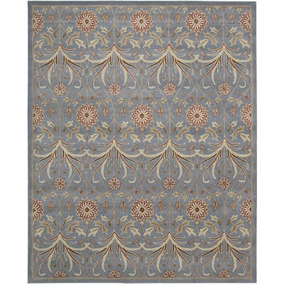 Carthage Hand-Tufted Light Blue Area Rug Rug Size: 5 x 7
