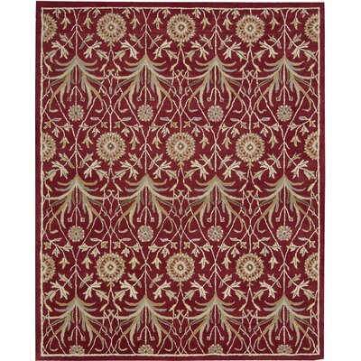 Carthage Hand-Tufted Red Area Rug Rug Size: 5 x 7