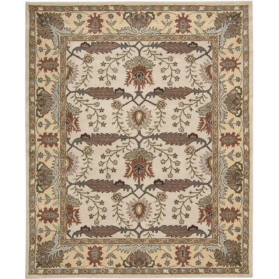 Carthage Hand-Tufted Beige Area Rug Rug Size: Rectangle 5 x 7