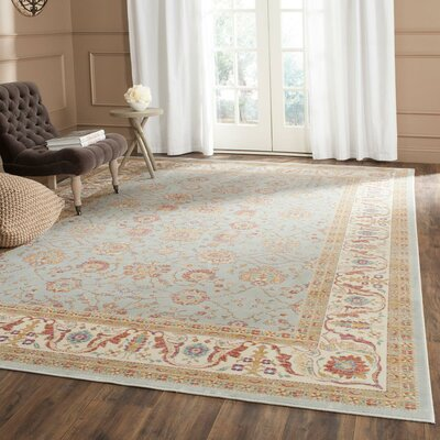 Enlow Silver/Ivory Area Rug Rug Size: Rectangle 96 x 13
