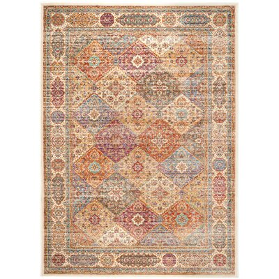 Enlow Ivory Area Rug Rug Size: Rectangle 96 x 13