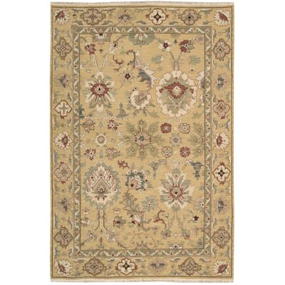 Cullen Hand-Woven Gold Area Rug Rug Size: 510 x 810
