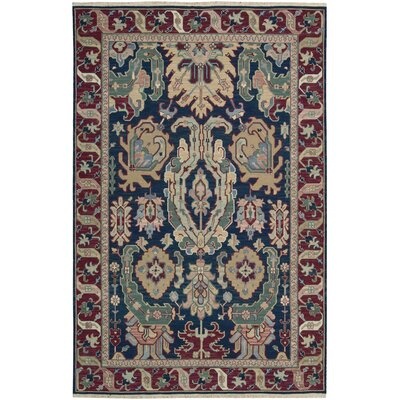 Cullen Hand Woven Wool Navy Area Rug Rug Size: 12 x 18