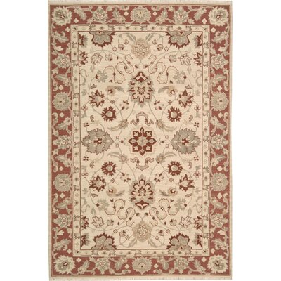 Heintzelman Hand-Woven Beige Area Rug Rug Size: Rectangle 310 x 510