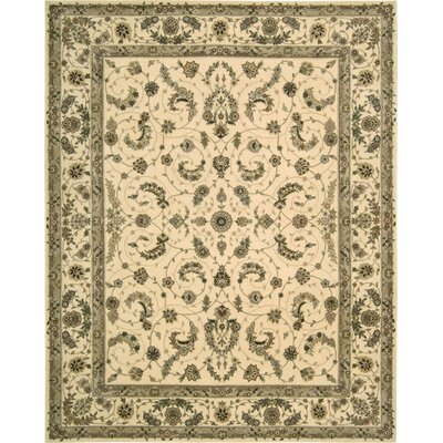 Hemming Hand-Tufted Ivory Area Rug Rug Size: Rectangle 36 x 56
