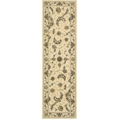 Hemming Hand-Tufted Ivory Area Rug Rug Size: Runner 23 x 8