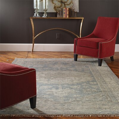 Rocha Hand Knotted Wool Sage Area Rug Rug Size: Rectangle 6 x 9