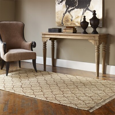 Eddyville Hand Woven Beige Area Rug Rug Size: Rectangle 8 x 10