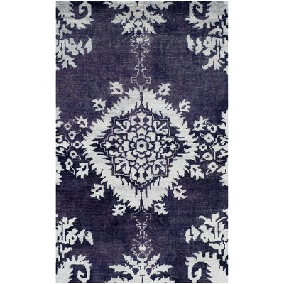 Griggs Hand-Knotted Deep Purple Area Rug Rug Size: 8 x 10