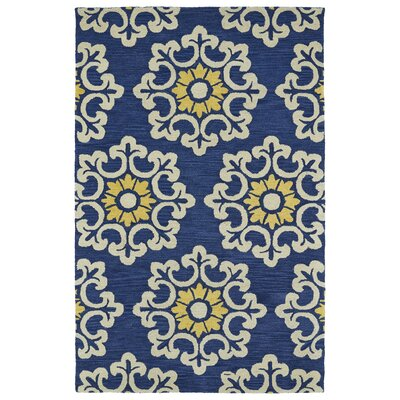 Tunstall Hand-Tufted Blue Area Rug Rug Size: Rectangle 5 x 8