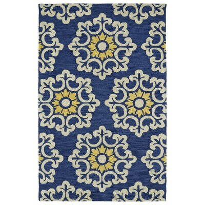 Tunstall Hand-Tufted Blue Area Rug Rug Size: 5 x 8