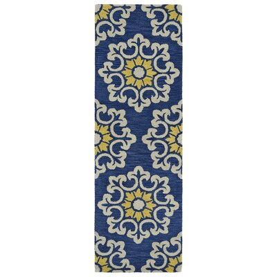 Tunstall Hand-Tufted Blue Area Rug Rug Size: Runner 2'6
